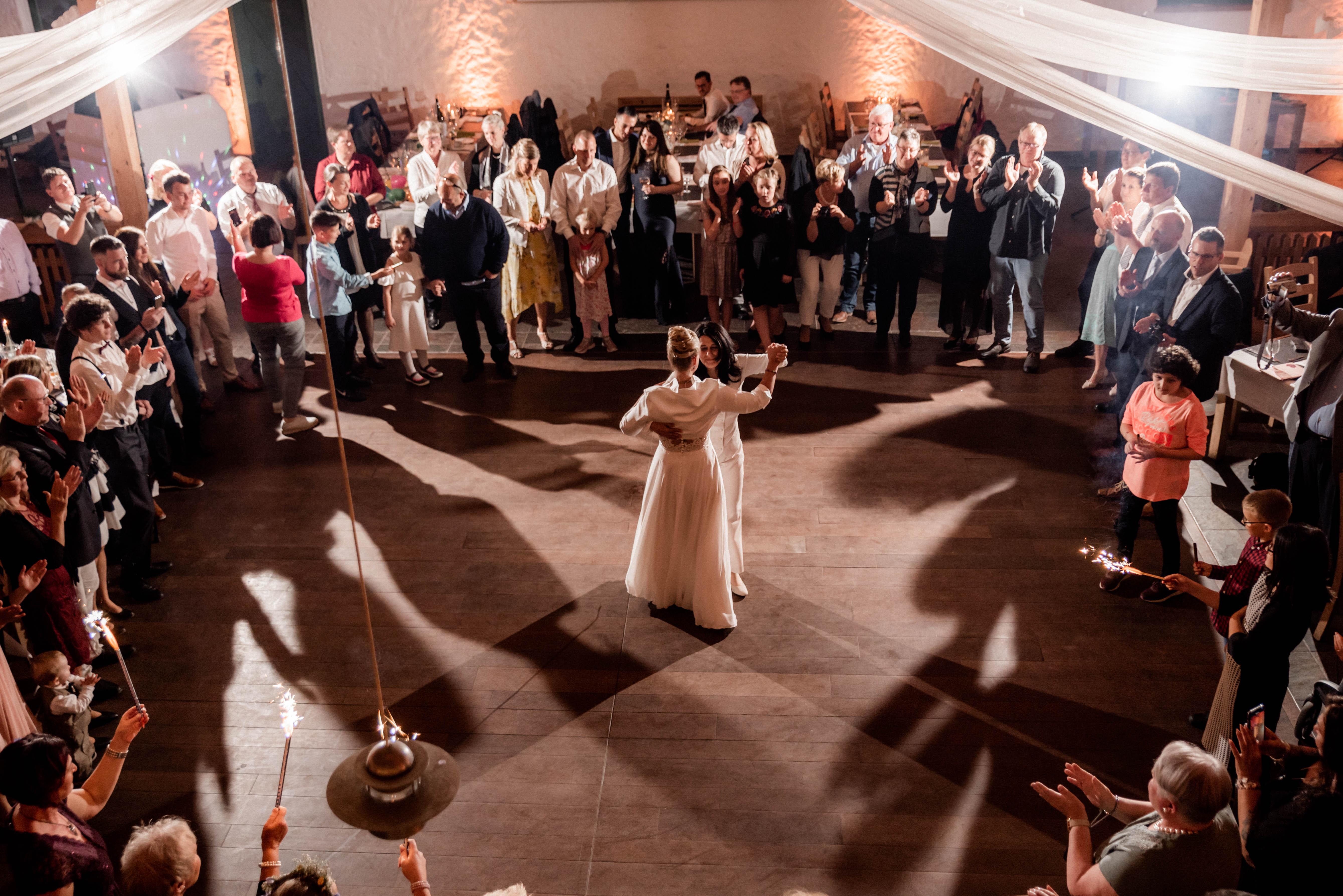 Fuchskaute Hochzeitstanz